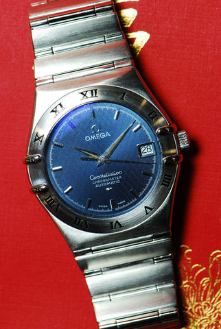 OMEGA CONSTELLATION GENTS AUTOMATIC BLUE (Near Mint)