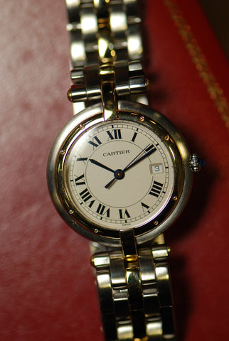 [SOLD] CARTIER PANTHERE LADIES HALF-GOLD QUARTZ (Mint)