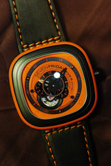 SEVENFRIDAY ESSENCE ORANGE AUTOMATIC P1/03 (NEW-UNWORN)