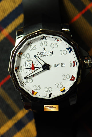 CORUM ADMIRAL'S CUP 48mm AUTOMATIC WHITE (NEAR MINT)