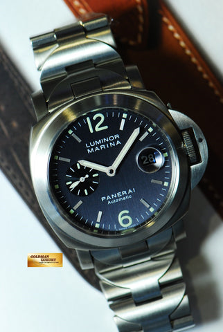 [SOLD] PANERAI LUMINOR MARINA PAM 91 AUTOMATIC (RARE BLUE) (MINT)