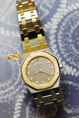 [SOLD ] AUDEMARS PIGUET ROYAL OAK LADIES HALF-GOLD 24mm DIAMONDS QUARTZ