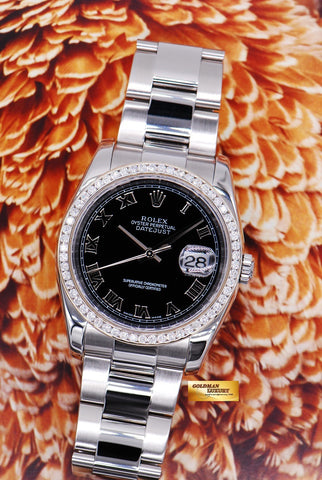 [SOLD] ROLEX OYSTER PERPETUAL DATEJUST 36mm DIAMOND BEZEL Ref 116200 (MINT)