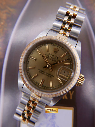 [SOLD] ROLEX OYSTER DATEJUST 26mm LADIES HALF-GOLD Ref : 69173