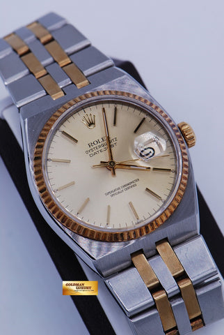 [SOLD] ROLEX OYSTERQUARTZ DATEJUST HALF-GOLD Ref 17013 (NEAR MINT)