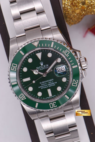 [SOLD] ROLEX OYSTER PERPETUAL SUBMARINER GREEN HULK Ref 116610LV