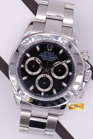 [SOLD] ROLEX OYSTER PERPETUAL DAYTONA SS BLACK Ref 116520 (MINT)