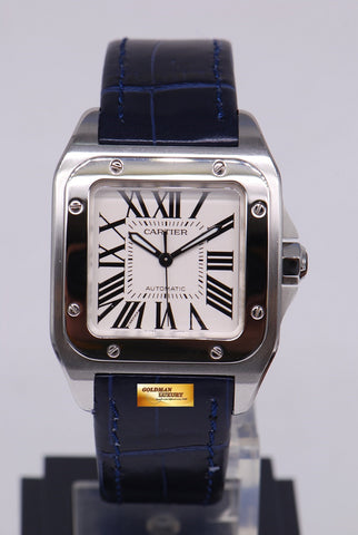 [ SOLD ] CARTIER SANTOS 100 MIDSIZE AUTOMATIC BLUE