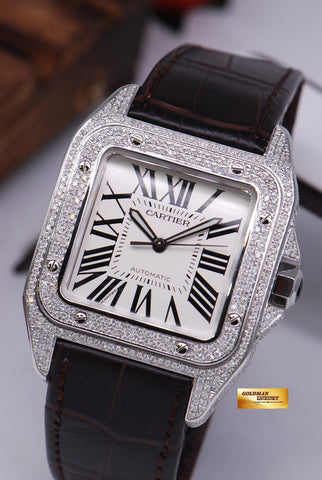 [SOLD] CARTIER SANTOS 100 XL FULL DIAMONDS AUTOMATIC
