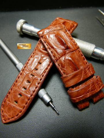 PANERAI HORNBACK ALLIGATOR STRAP RED BROWN