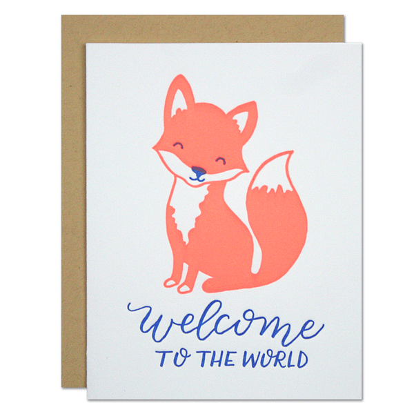Baby Fox Card | Parrott Design Studio