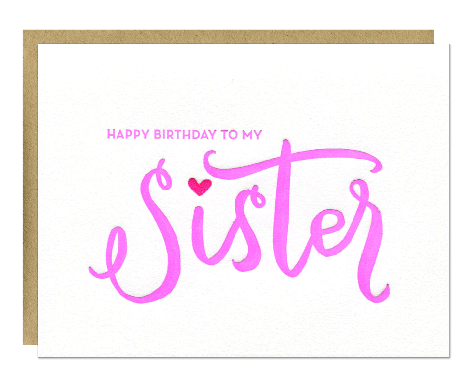 My Sister Birthday Card Parrott Design Studio