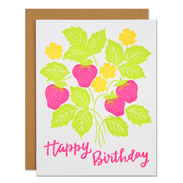 Strawberry Birthday Card | Parrott Design Studio