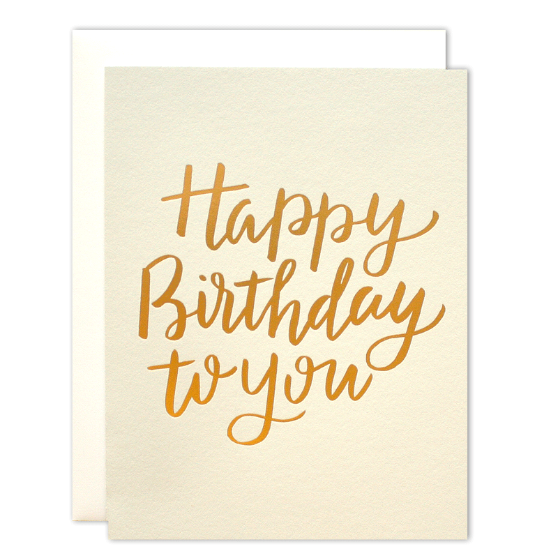 Golden Birthday Card Parrott Design Studio