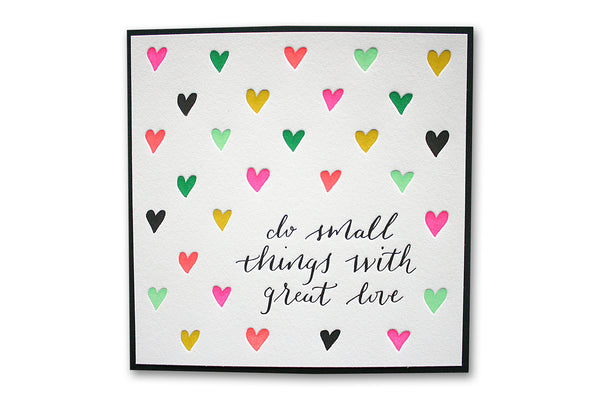 Great Love Letterpress Art Print | Parrott Design Studio