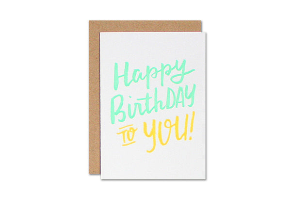 Happy Birthday Enclosure Card