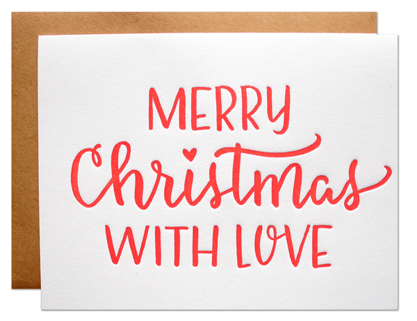 Merry Christmas with Love Card | Parrott Design Studio