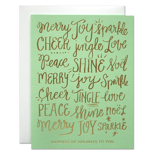 Happiest Holidays Card | Parrott Design Studio