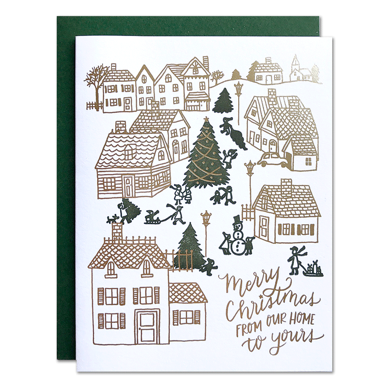 Christmas Village Card