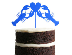 Lobster Love Dessert Topper - Sea Glass Blue