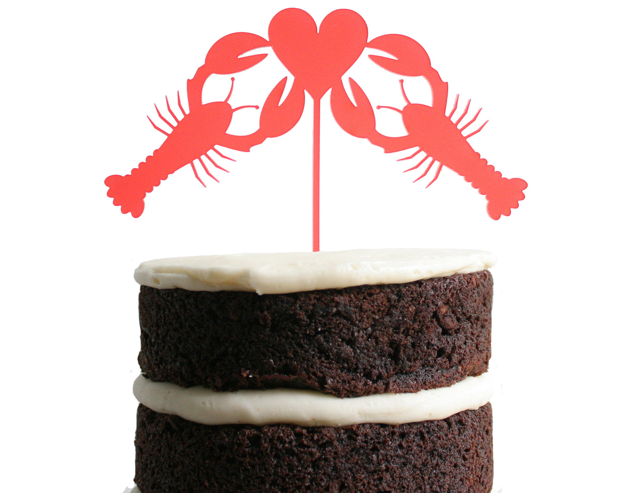 Lobster Love Dessert Topper - Poppy Red