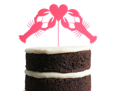 Lobster Love Dessert Topper - Rose