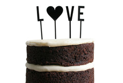 Love Dessert Topper - Black