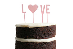 Love Dessert Topper - Blush