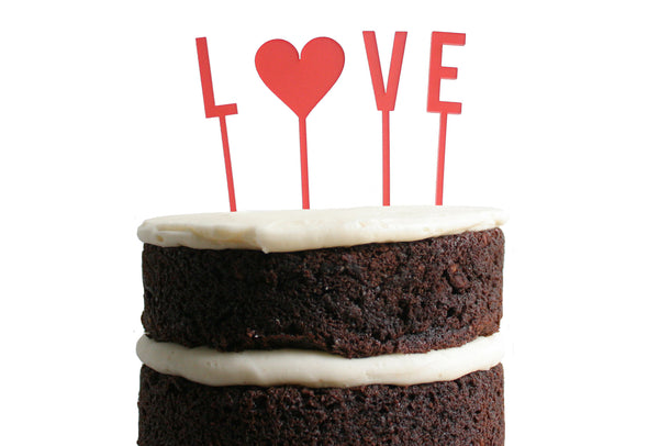 Love Dessert Topper - Poppy | Parrott Design Studio