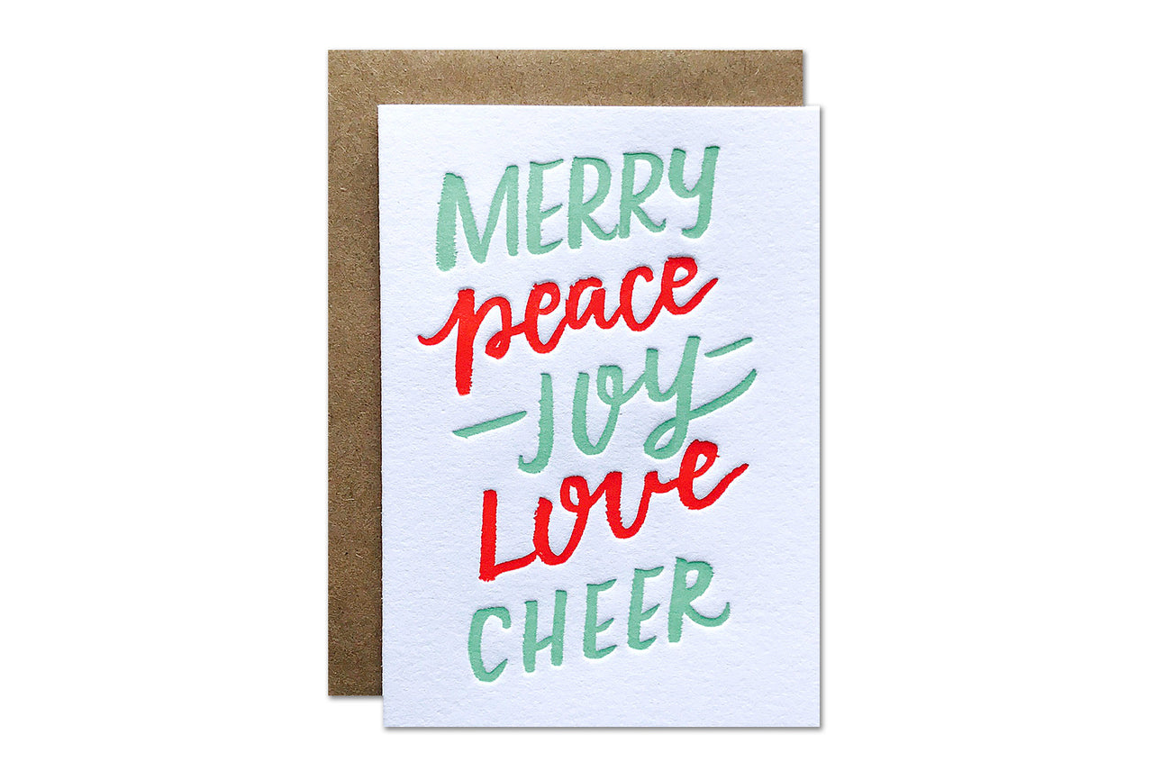 Merry Cheer Enclosure Card