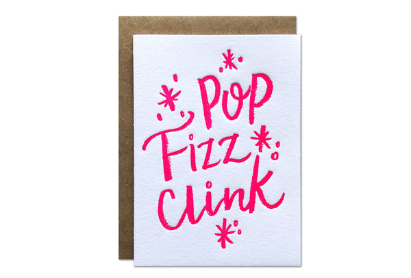 Pop Fizz Clink Enclosure Card | Parrott Design Studio