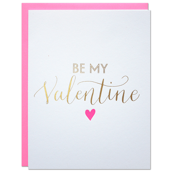 Be My Valentine Card | Parrott Design Studio