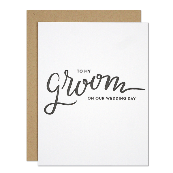 My Groom Card | Parrott Design Studio