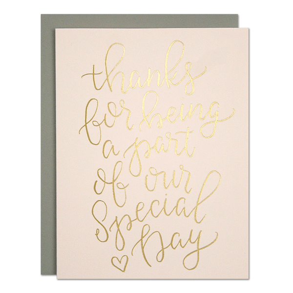 Special Day Wedding Thank You Card | Parrott Design Studio