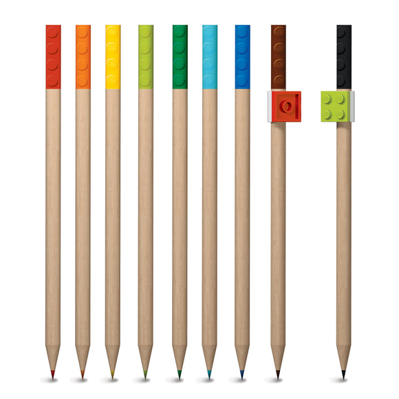 LEGO Stationery  9 Pack Colored Pencil