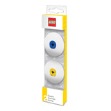 LEGO Stationery 2 Pack Eraser - Blue / Yellow