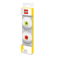 Load image into Gallery viewer, LEGO Stationery 2 Pack Eraser -Red / Lime