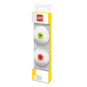 LEGO Stationery 2 Pack Eraser -Red / Lime
