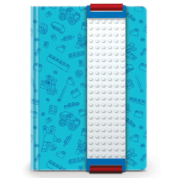LEGO Stationery  Journal with Building Band -Blue