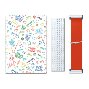LEGO Stationery Journal with Building Band - White