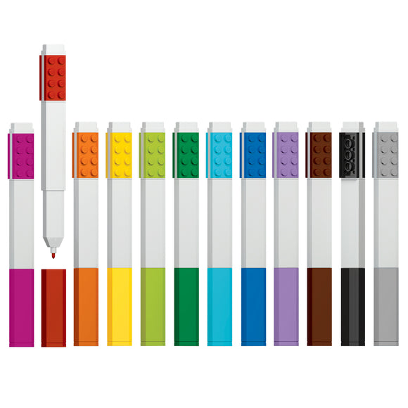 LEGO Stationery 12 Pack Marker