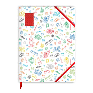 LEGO Stationery 4X6 Embedded Brick Sketchbook- Red