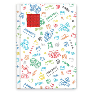LEGO Stationery White Journal with Red 4X4 Embedded Brick