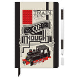LEGO Stationery Notebook 4x6 Red Brick w/ Black Gel Pen Set - Train of Thought