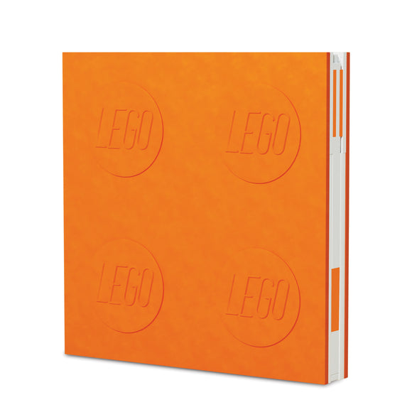 LEGO Stationery Locking Notebook and Gel Pen-Orange
