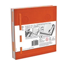 Load image into Gallery viewer, LEGO Stationery Locking Notebook and Gel Pen-Orange