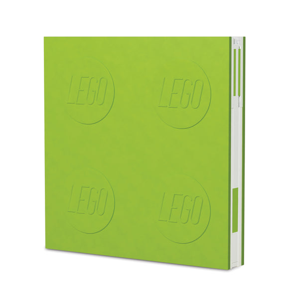 LEGO Stationery Locking Notebook and Gel Pen-Lime