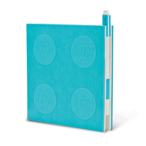 LEGO Stationery Locking Notebook and Gel Pen-Light Blue