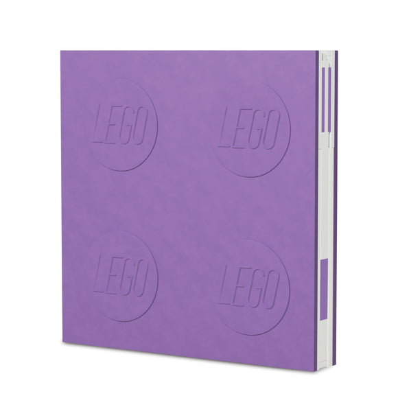 LEGO Stationery Locking Notebook and Gel Pen-Lavender