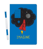 LEGO Stationery Notebook 4x6 Blue Brick w/ Blue Gel Pen set - Imagine